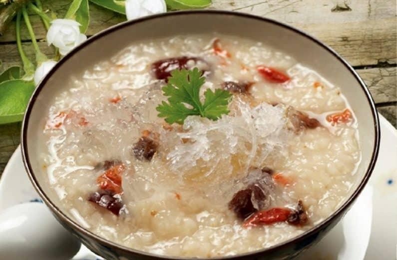 Món cháo tổ yến gạo mầm dành cho người tiểu đường